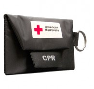 American Red Cross CPR Keychain with Gloves - Black