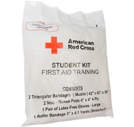 American Red Cross First Aid Student Training Pack w/Muslin Bandage Case of 100