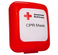 American Red Cross CPR Mask without Oxygen Inlet - Hard Case