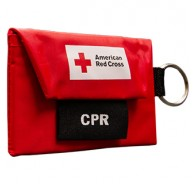 American Red Cross CPR Keychain with Gloves